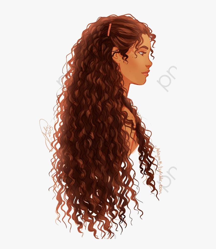 Curly Hair Girl Cartoon Girl Side Curls Png Transparent Curly Hair Girl Cartoon Png Download Transparent Png Image Pngitem
