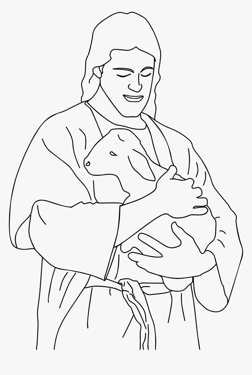Christ Holding Line Art Coloring Book Of Jesus Hd Png Download Transparent Png Image Pngitem