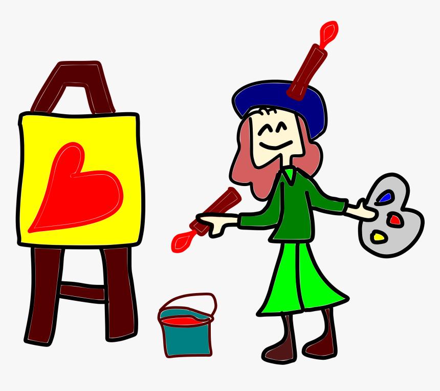 Painting Clipart Cartoon Person Hobbies Flashcards En Ingles Hd Png Download Transparent Png Image Pngitem