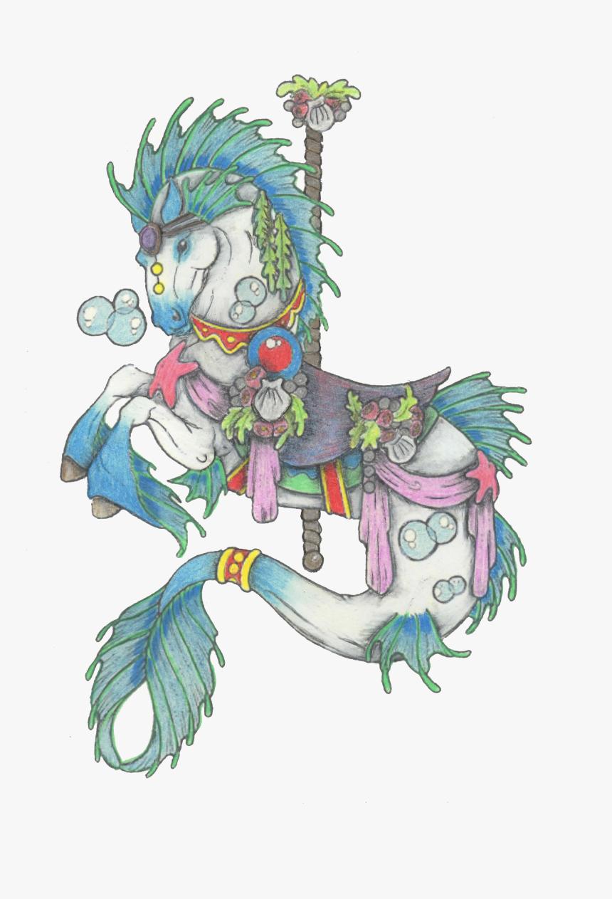 Carousel Horse Colored Pencil Carousel Colored Pencil Drawings Carosel Horses Hd Png Download Transparent Png Image Pngitem