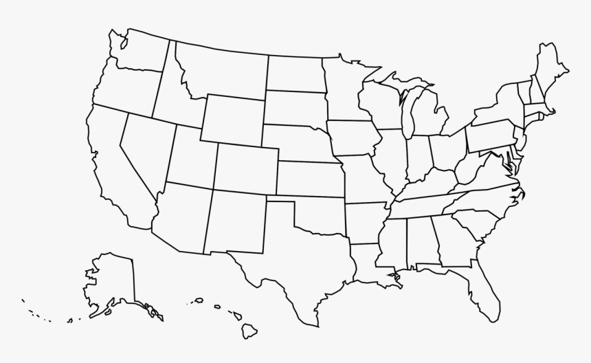 united states map outline png America Outline Vector Transparent United States Map Png Png