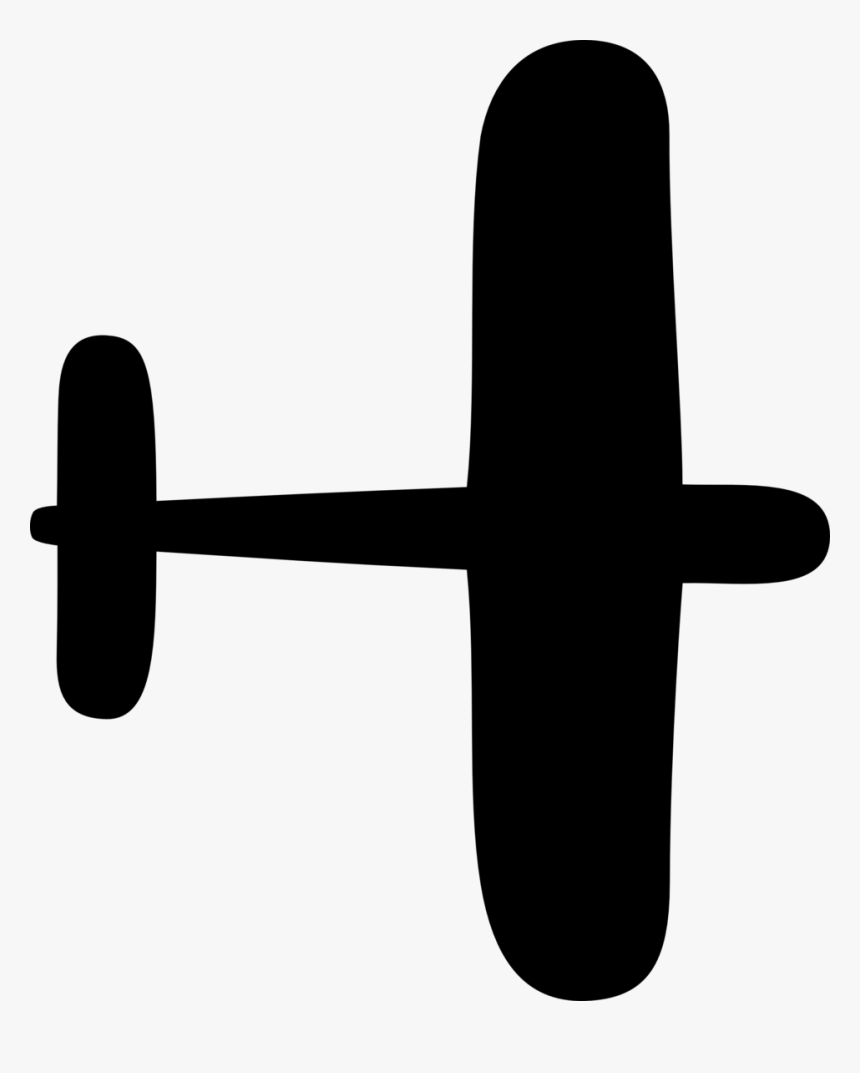 Plane Silhouette Simple Hd Png Download Transparent Png Image