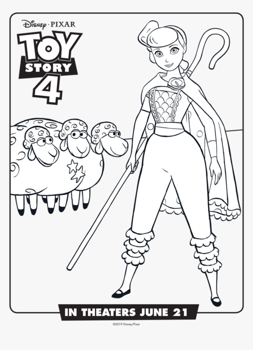 Printable Toy Story 4 Coloring Pages Transparent Toy Story 4