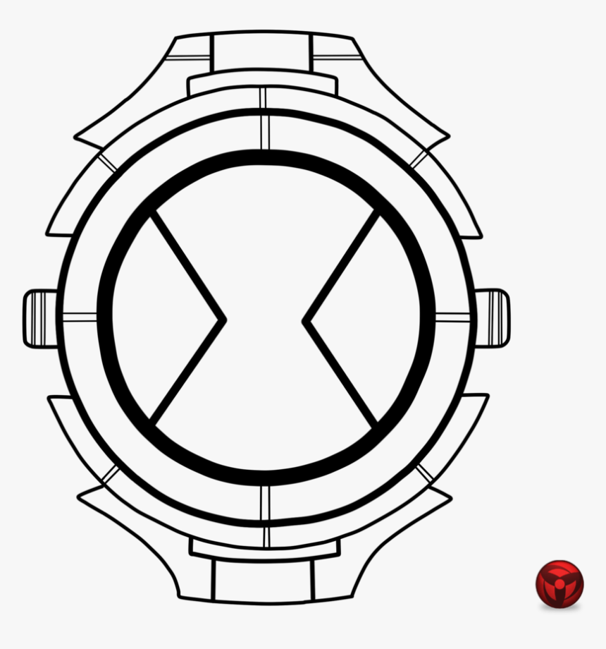 Relogio Para Colorir Ben 10 Watch Coloring Pages Hd Png