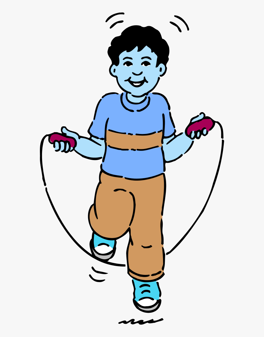 Young Boy Jumping Rope Sport Exercise Jump Rope Clipart Black And White Hd Png Download Transparent Png Image Pngitem