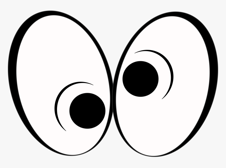 Transparent Eyes Clipart Black And White Crazy Cartoon Eyes