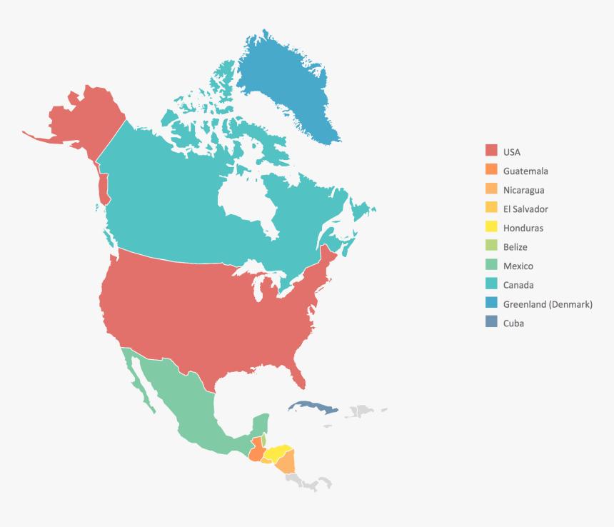 North America Map - North America Map Transparent, HD Png ...