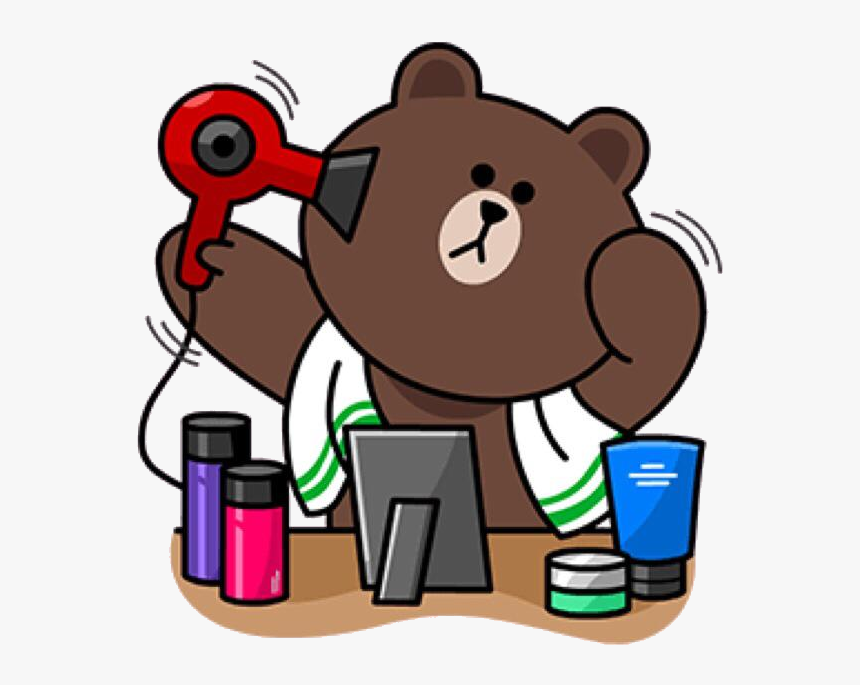 Line Friends Stickers Brown, HD Png Download , Transparent ...