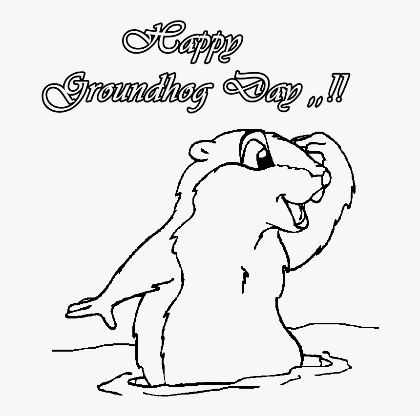 Pin Groundhog Day Clipart Black And White - Groundhog Day ...