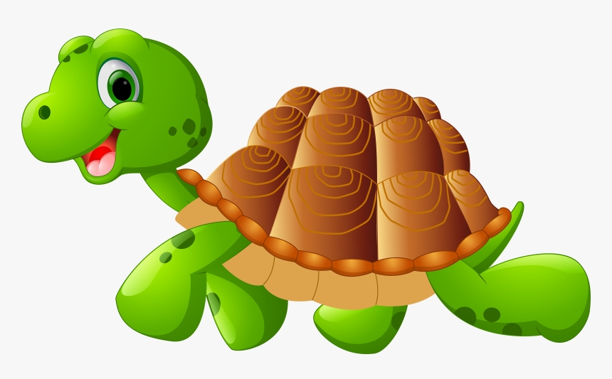 Green Sea Turtle Cartoon Reptile Clip Art Transparent Background