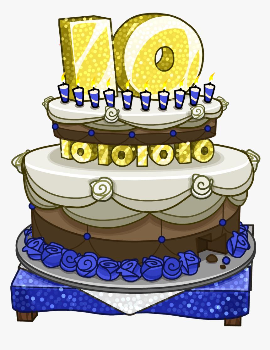 Strange Club Penguin Wiki Club Penguin Anniversary Cake Hd Png Download Funny Birthday Cards Online Aeocydamsfinfo