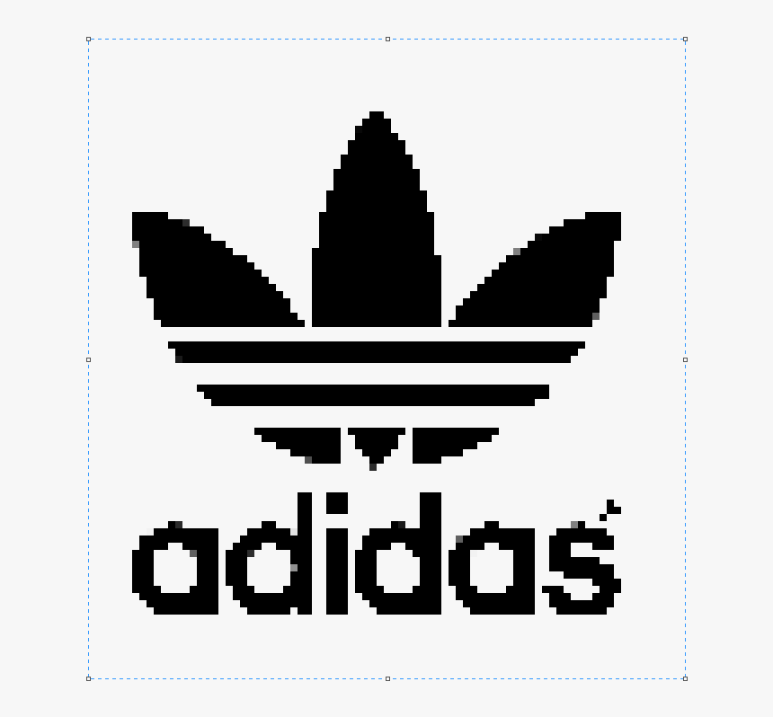 Black And White Pixel Art Adidas Hd Png Download