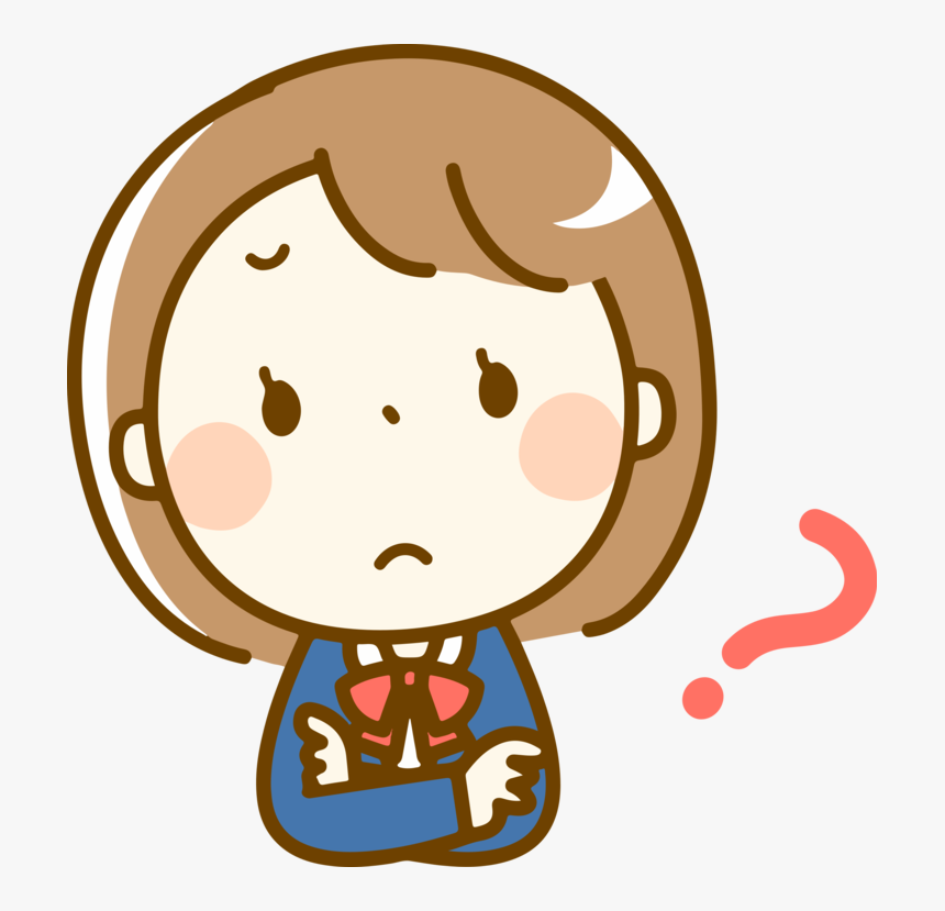 Thinking Girl Clipart Png , Transparent Cartoons ...