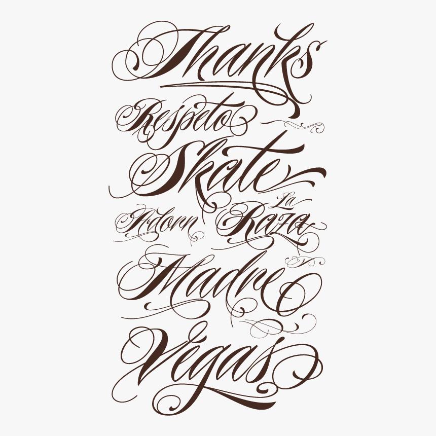 Gangster Tattoos Png Tattoo Lettering Fonts Transparent Png Transparent Png Image Pngitem