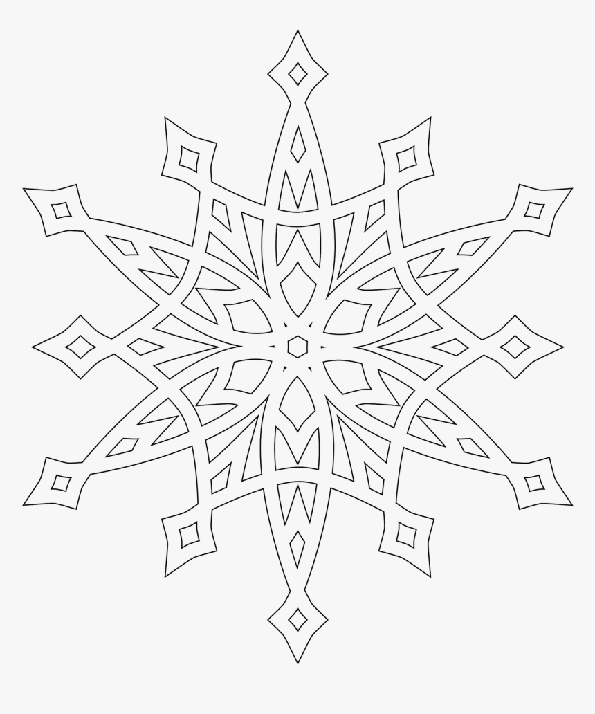 - Printable Coloring Pages Snowflake Patterns - Mandala Snowflake