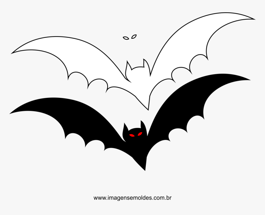 Clip Art Molde Morcego Para Feltro Transparent Background