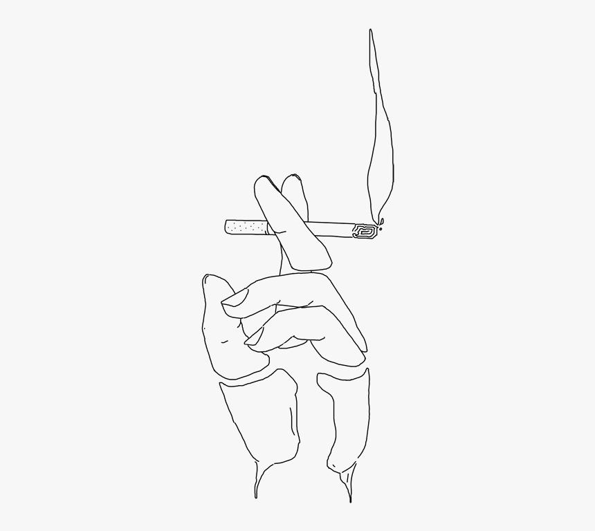 Smoke Cigarette Aesthetic Kawaii Anime Art Sticker Simple Smoking Man Drawing Hd Png Download Transparent Png Image Pngitem