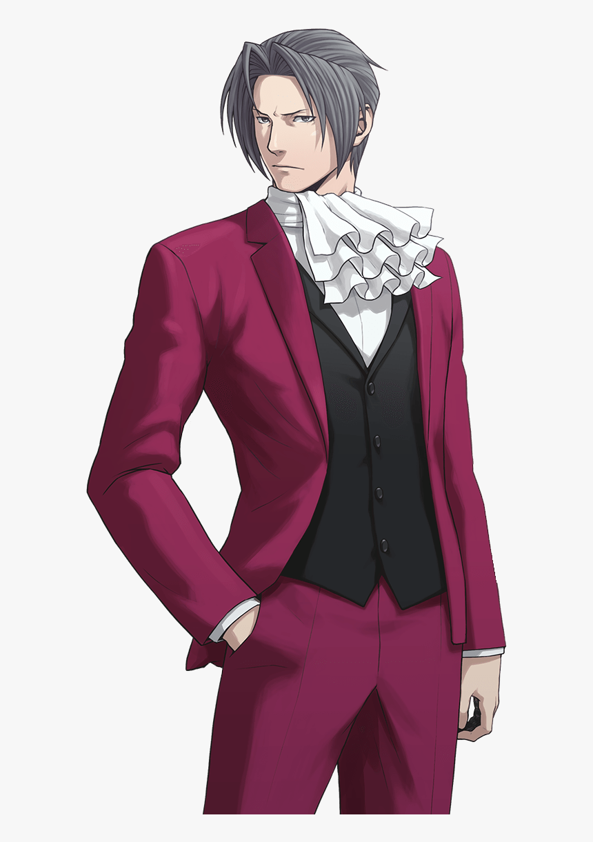 Phoenix Wright Ace Attorney Miles Edgeworth Hd Png Download