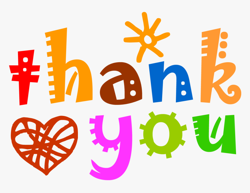Thank You With Heart - Transparent Thank You Clipart, HD Png Download ,  Transparent Png Image - PNGitem