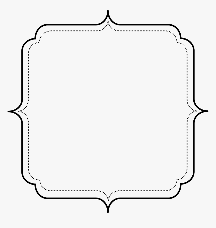 Transparent Simple Frame Black And White