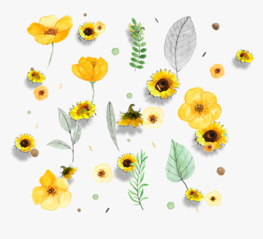 transparent sunflower frame png yellow flowers watercolor png png download transparent png image pngitem transparent sunflower frame png