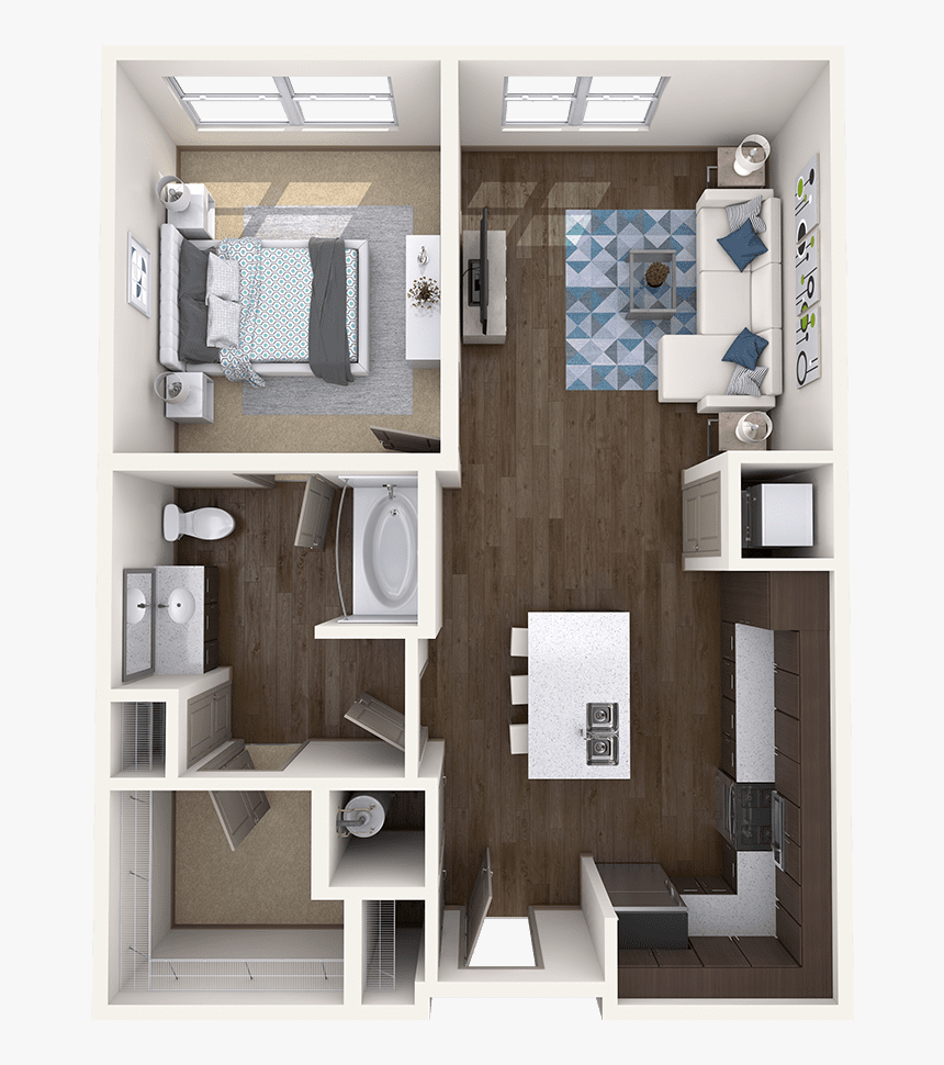 1 Bedroom Apartment Floor Plan Hd Png Download Transparent Png Image Pngitem