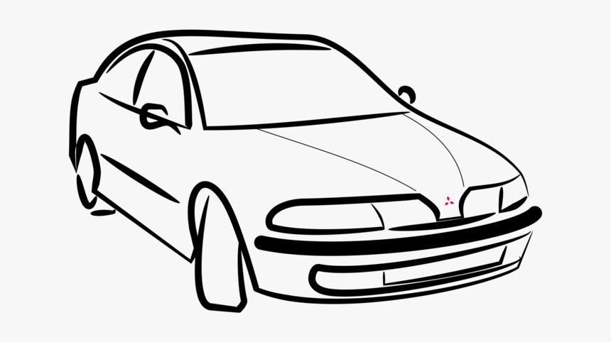Line Art,automotive Exterior,compact Car - Mitsubishi Carisma