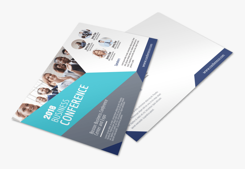 Business Conference Invitation Postcard Template Preview