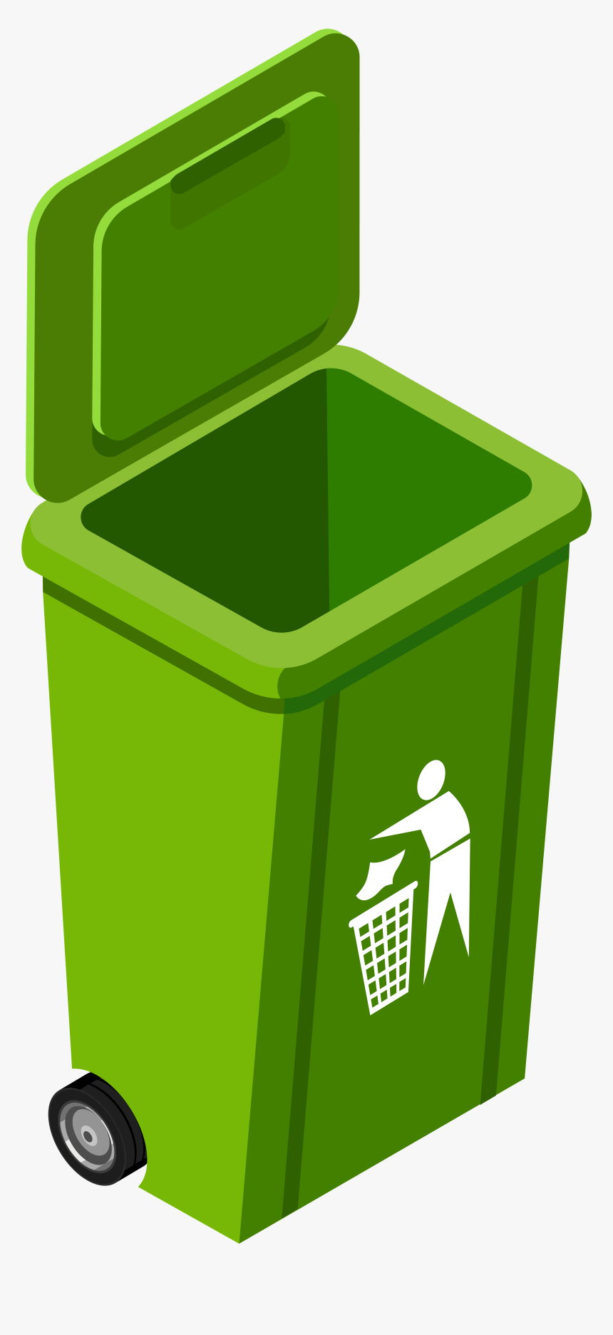 Green Trash Can Png Clip Art Image Green Trash Can Clipart