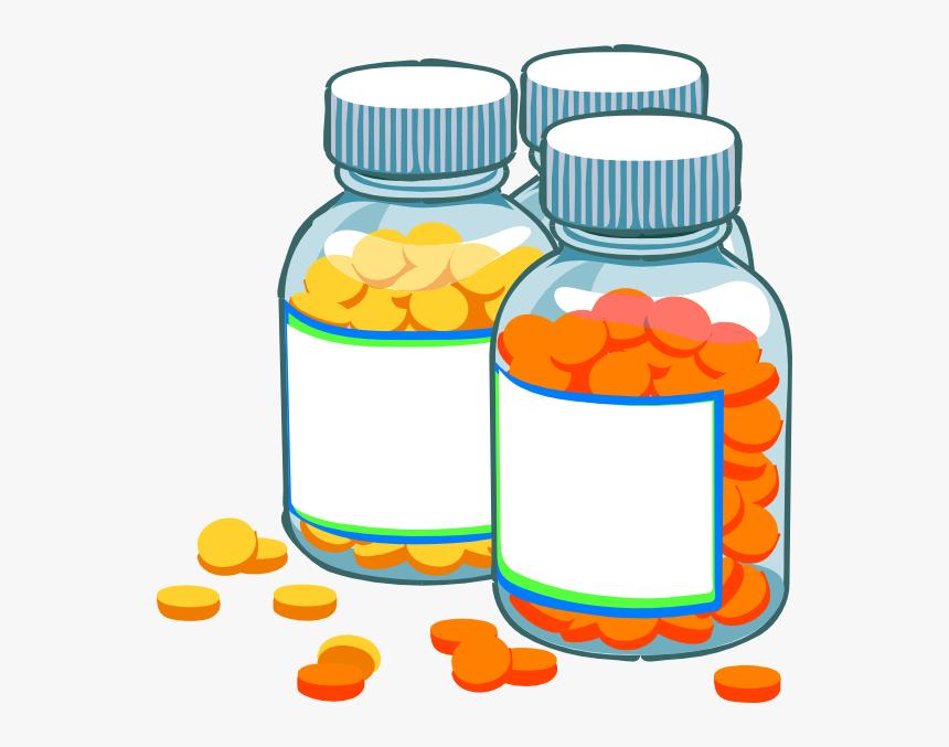 Blank Medicine Bottles Clip Art At Clker Com Vector - Transparent  Background Pill Bottle Clipart, HD Png Download , Transparent Png Image -  PNGitem