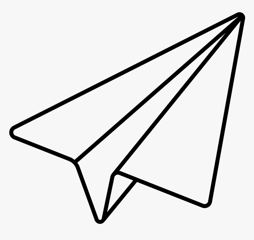 Noun Paper Plane Paper Airplane Line Drawing Hd Png Download