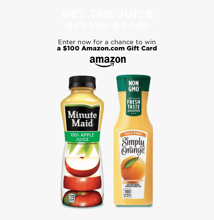 Minute Maid Apple Juice Bottle, HD Png