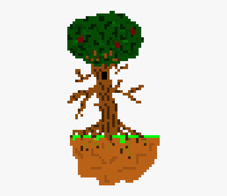 Pixel Art Tree Simple Hd Png Download Transparent Png Image Pngitem