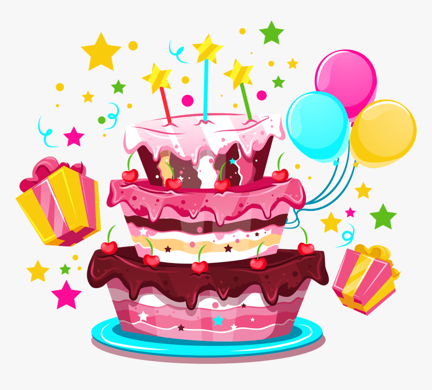 Birthday Cake Happy Birthday To You Party Transparent Background Birthday Cake Cartoon Hd Png Download Transparent Png Image Pngitem