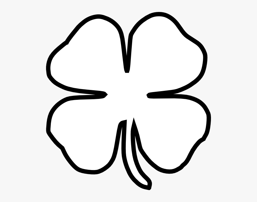 How To Draw A Four Leaf Clover Easy Step By Step