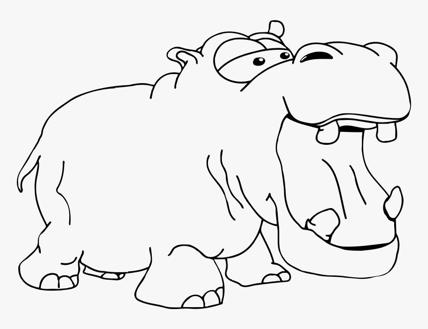 Hippopotamus 2 Kudanil Gambar Hitam Putih Hd Png Download Transparent Png Image Pngitem