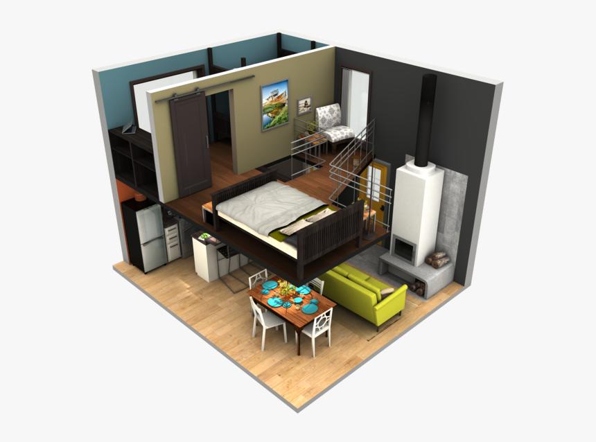 Tinyhousebigloft Tiny House Plans 3d Hd Png Download Transparent Png Image Pngitem