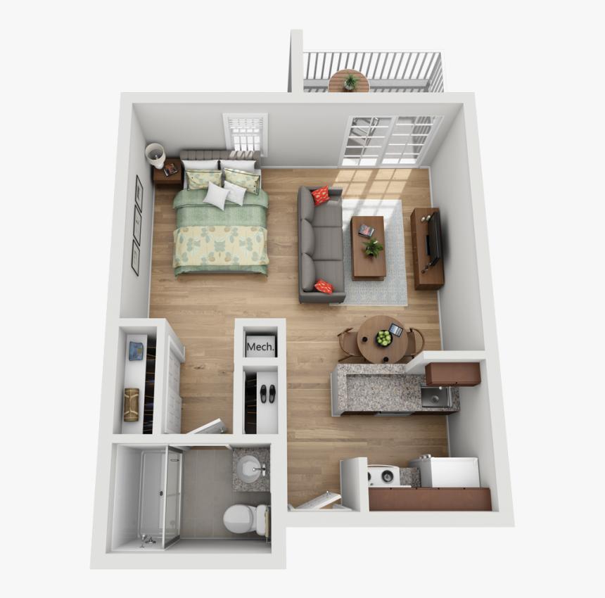 Studio Apartment Floor Plans, HD Png