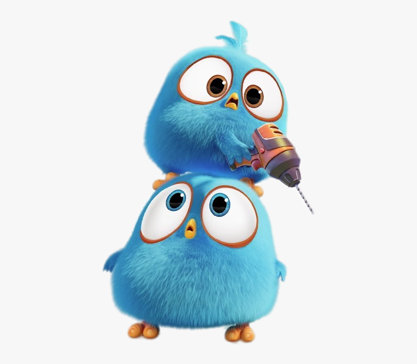Angry Bird Blues With Drill Angry Birds Blues Gifs Hd Png Download Transparent Png Image Pngitem