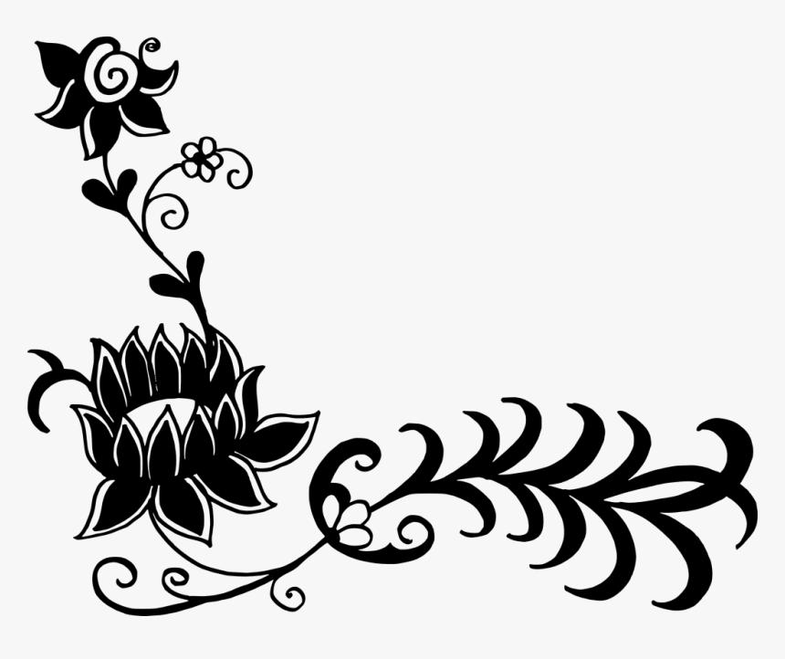 floral vector corner png download flower corner clipart black and white transparent png transparent png image pngitem floral vector corner png download