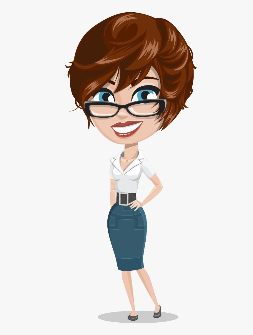 Girl With Short Hair Cartoon Vector Character Aka Cassie Cartoon