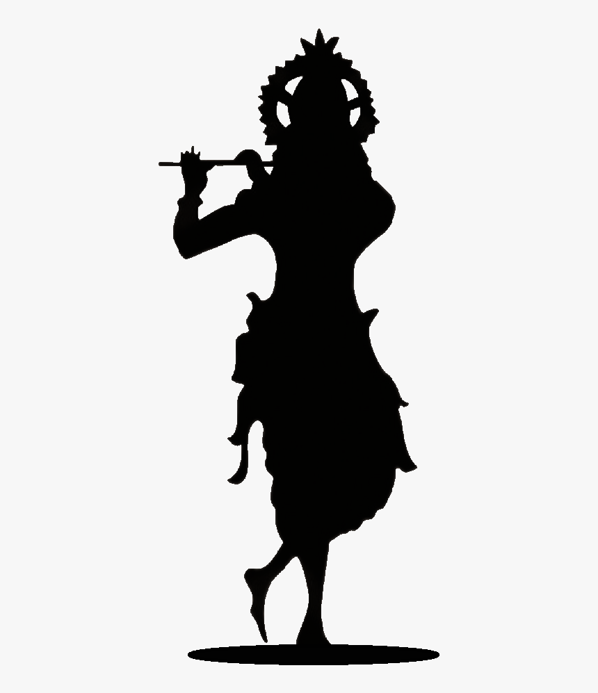 479 4794116 lord krishna black and white png download krishna