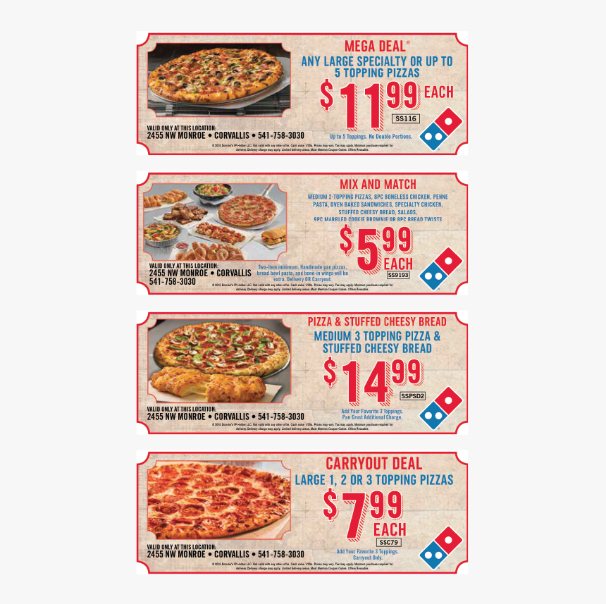 Domino S Coupon Domino S Pizza Specials Today Coupons Hd Png Download Transparent Png Image Pngitem