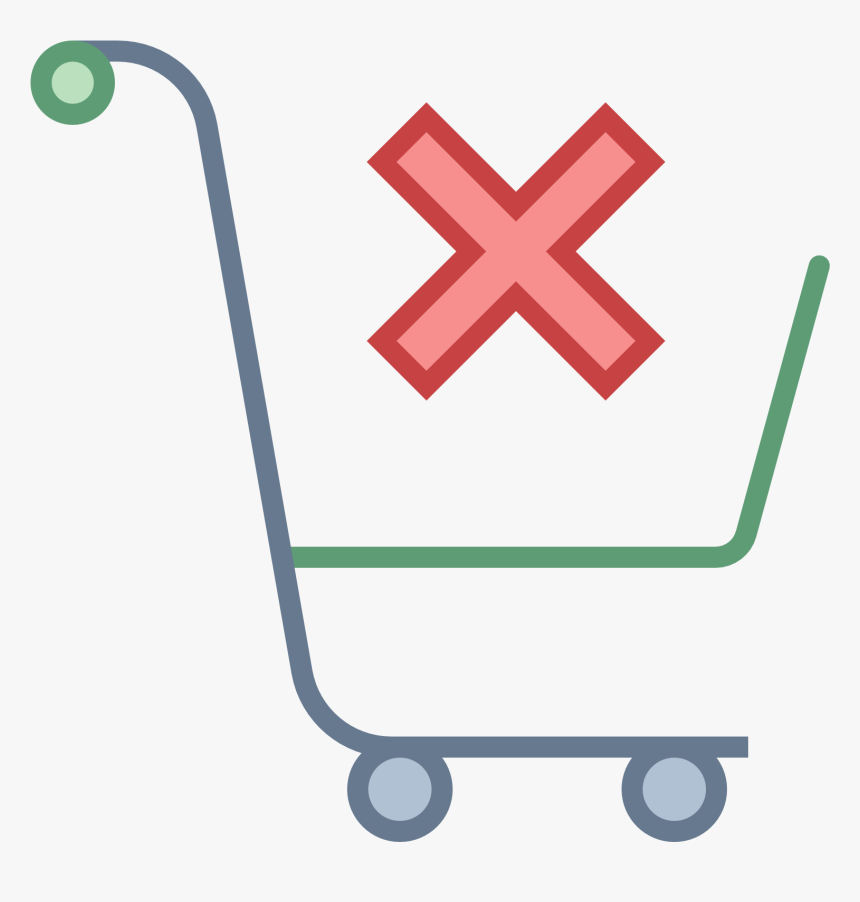An Empty Shopping Cart Viewed From The Side Clear Filter Icon