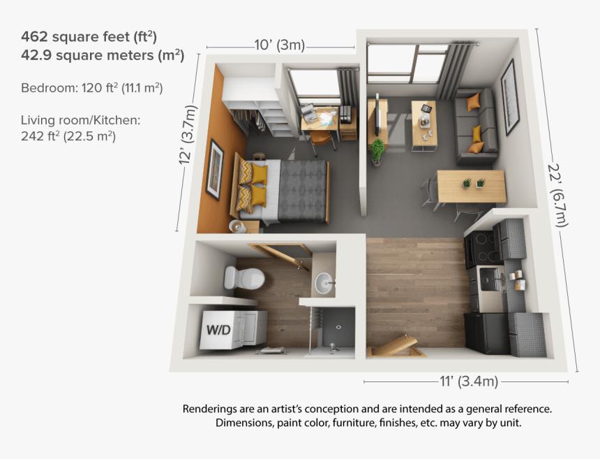 Living Room Furniture Includes Sofa - 1 Bedroom Apartment ...