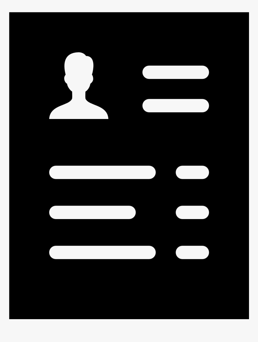 White Resume Icon Png Transparent Png Transparent Png Image