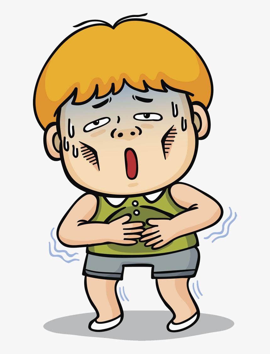 Sick Person Cartoon Of Transparent Png - Sick Boy Clipart, Png ...