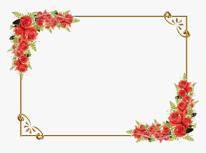 Transparent Background Flower Border Png Png Download