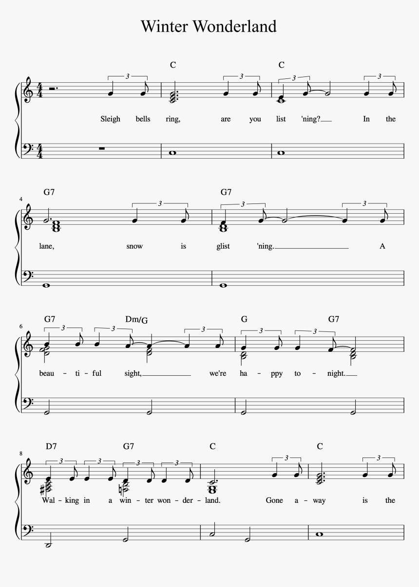 Winter Wonderland Full Manuscript Color Chords Page   Winter ...