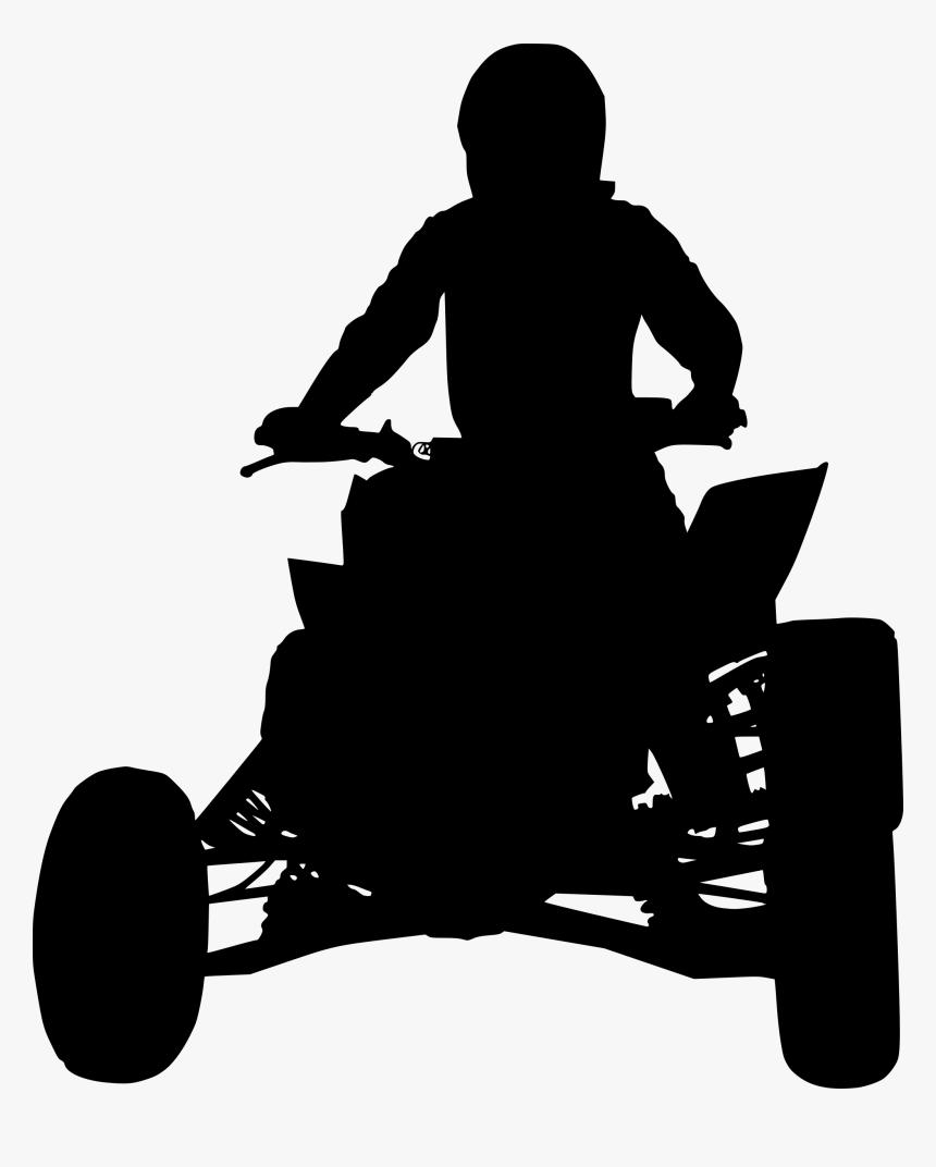 Atv Quad Bike Silhouette 1 Silhouette Hd Png Download Transparent Png Image Pngitem